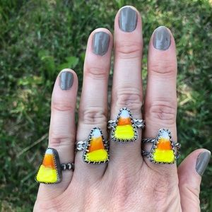 Candy corn rings